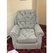 M/M Tomlinson from Sutton in Ashfield - New Stretford chair in Maidavale fabric