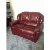 Mr Draper from Sutton in Ashfield - New Louise leather sofa in colour burgundy