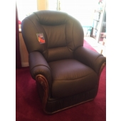 M/M Middleton from Tibshelf - New Cynthia leather chair in colour brown