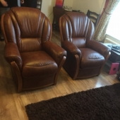 Mrs Cherry from Sutton in Ashfield - New Tara leather chairs in colour tabak