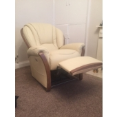Mrs Musgrove from Sutton in Ashfield - New Tara leather recliner chair in colour beige