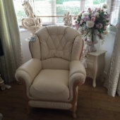 M/M Walker from Sutton in Ashfield - New Brenda leather chair in colour cream