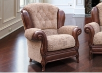 QUEEN ANNE LEATHER CHAIR