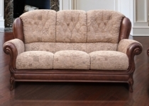 QUEEN ANNE LEATHER SOFA