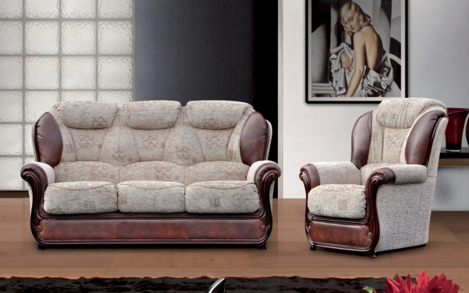 ZENA LEATHER SOFA