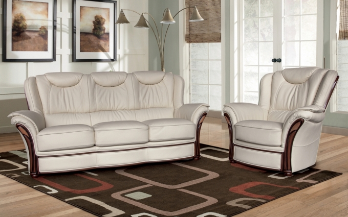 LALYA LEATHER SOFA