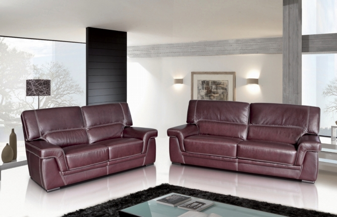 JOLENE LEATHER SOFA