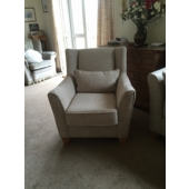 M/M Holmes from Farnsfield new Venus chair in Charleston fabric