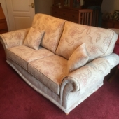 Mrs Hibbert from Forest Town - New Sabrina sofa in Maidavale fabric