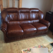 M/M Carter from Sutton in Ashfield - New Cynthia sofa in Tabak leather