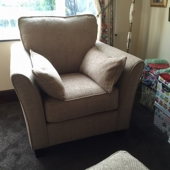 M/M Moore from Sutton in Ashfield - New Venus chair in Chalereston fabric