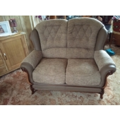 M/M Betteridge from Kirkby in Ashfield - New Queen Anne sofa in Montanna fabric and leather