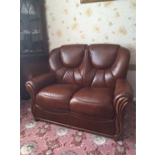 Mrs Potts from Sutton in Ashfield - New Georgia leather sofa in Tabak