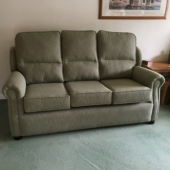 Mrs Broome from Mansfield - Stretford sofa in Ross Keswick green stripe